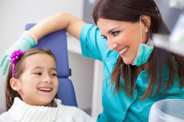 Pediatric Dentistry Burlington ON - Little Girl with a Dentist