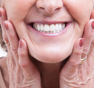 Dentures Burlington ON - Elderly Woman with Dentures