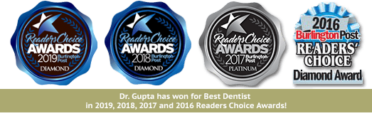 Dr. Gupta has won for Best Dentist in the 2019 Reader's Choice Awards!