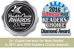 Cosmetic Dentistry Burlington ON - Dr. Gupta has won for Best Dentist in the 2016 Reader's Choice Awards!