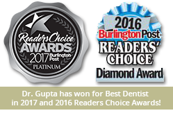 Sedation Dentistry Burlington Ontario - Dr. Gupta has won for Best Dentist in the 2016 Reader's Choice Awards!